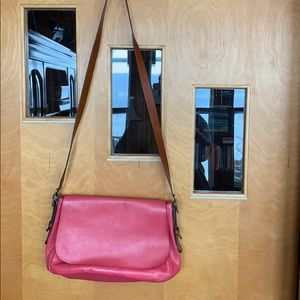 Pink Fossil purse